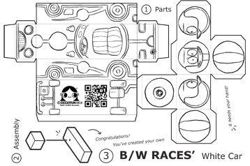 Cartolina B/W Races, un progetto Cicciotun